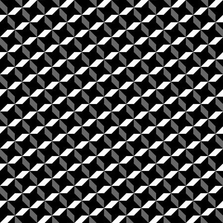 optical black and white geometric pattern 12x12 inch Illustration