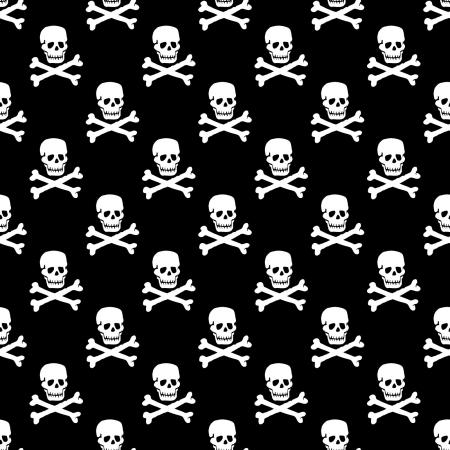 totenk�pfe: Vektor-Sch�del-Muster einfarbig schwarz und wei�