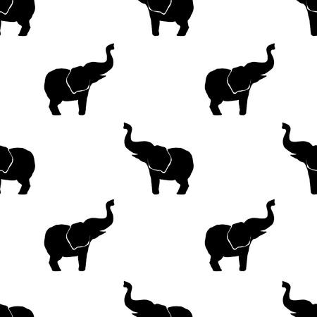 siluetas de elefantes: elefantes patrón pulgadas 12x12