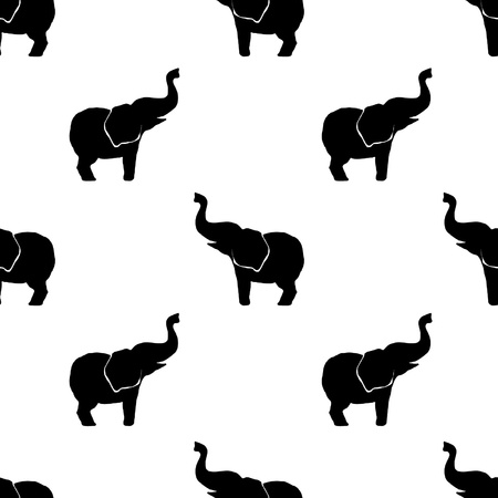 pattern elephants 12x12 inch Illustration