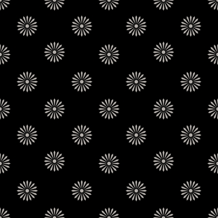 floreal: floreal pattern monochrome black and white - customizable color on vector design Illustration