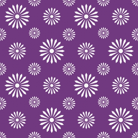 seamless pattern - flowers, monochrome lilla, violet and white - customizable color on vector design