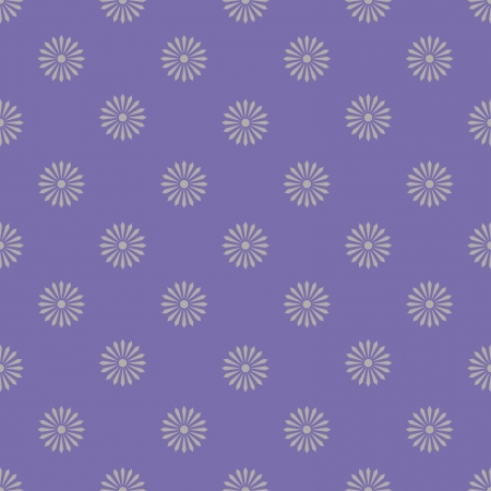 floreal pattern monochrome lilla, violet and white - customizable color on vector design Illustration