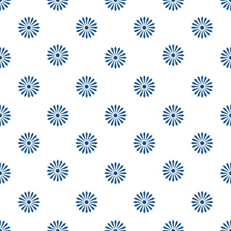 floreal pattern monochrome blue and white - customizable color on vector design