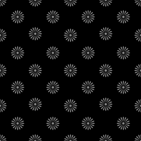 floreal pattern monochrome black and white - customizable color on vector design Illustration