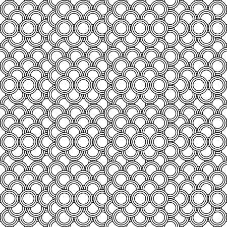 seamless circles pattern black and white - customizable color on vector design Illustration