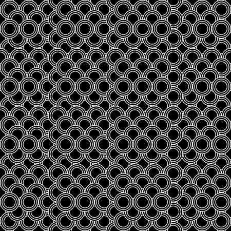 seamless circles pattern black and white - customizable color on vector design Иллюстрация