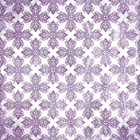 damask violet damaged fabric seamless pattern 12x12 inch Stock Photo