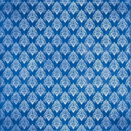 damask blue damaged fabric pattern 12x12 inch