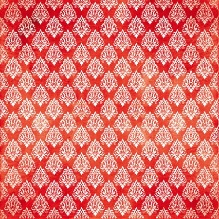 damask red damaged fabric seamless pattern 12x12 inch