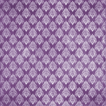 damask purple damaged fabric seamless pattern 12x12 inch