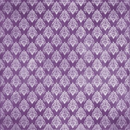 damask purple damaged fabric seamless pattern 12x12 inch