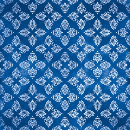 damask blue damaged fabric pattern 12x12 inch