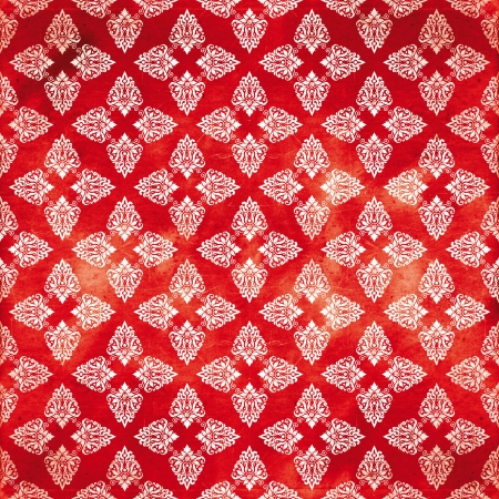 damask red damaged fabric pattern 12x12 inch