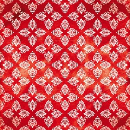 damask red damaged fabric pattern 12x12 inch