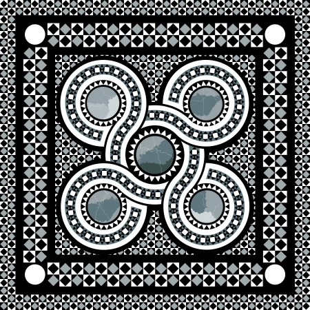 roman cosmati inspired geometric design