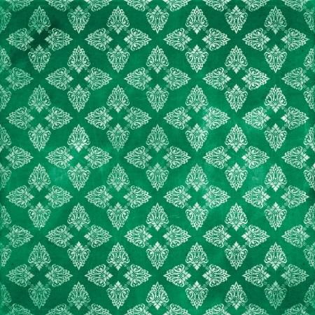 damask green damaged fabric seamless pattern 12x12 inch