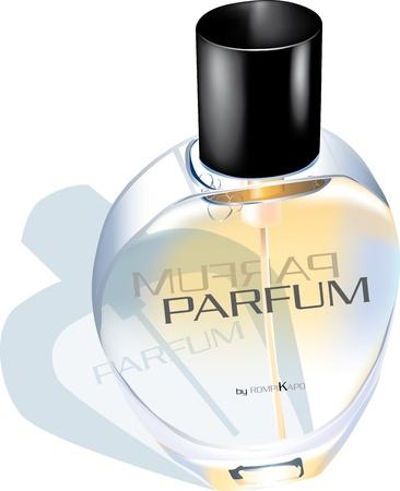 Illustration perfume glass bottle Illustration