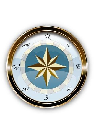 navy ship: compass vintage eng