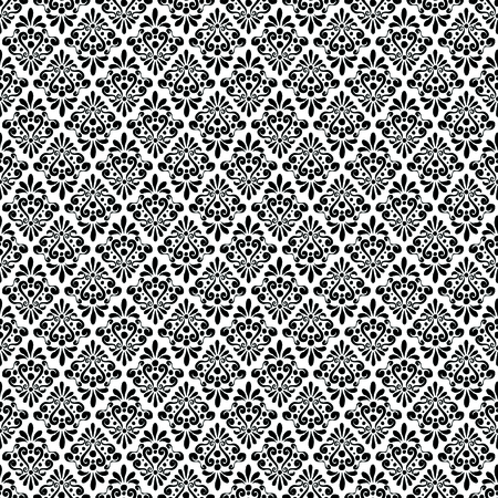 damask monochrome pattern