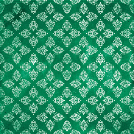 damask grunge seamless pattern Stock Photo