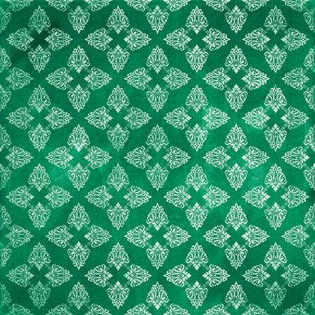 damask grunge seamless pattern Stock Photo