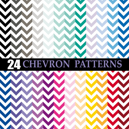 set of 24 chevron vector patterns Stock Vector - 24093885