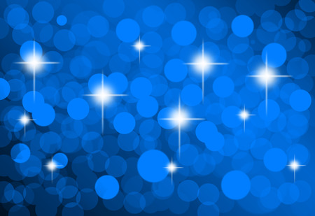 Christmas Lights background blue useful as card, greetings, background, hi res print, screen backgound, label Stock Photo