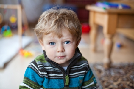 little boy: Little baby boy with blue eyes and blond hairs