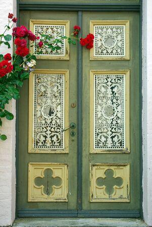 friedrichshafen: Old door in German town Friedrichshafen, Germany