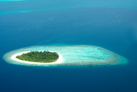Tropical carrebian island in Indian ocean Maldives photo