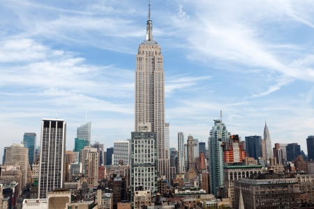 NEW YORK - OCTOBER 6  The Empire State Building on October 6, 2012 in NYC  The Empire State Building is a 102-story landmark and American cultural icon in New York City  Stock Photo - 16180311