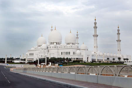Wonderful white Sheikh Zayed mosque at Abu-Dhabi, UAE Stock Photo - 16549905