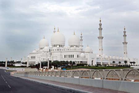 Wonderful white Sheikh Zayed mosque at Abu-Dhabi, UAE Stock Photo - 16549905