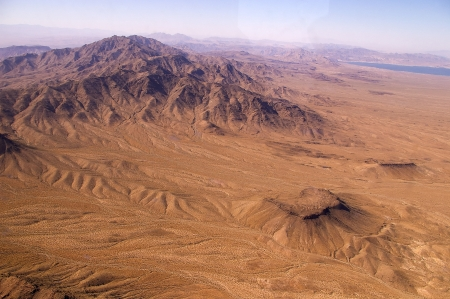 Aerial view of Death Valley from above, USA, Nevada photo