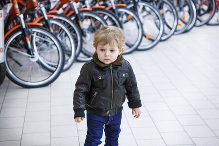 two years: Little toddler boy of two years in a shopping mall