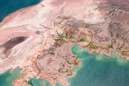 Aerial view of Lake Mead from above, USA, Nevada photo
