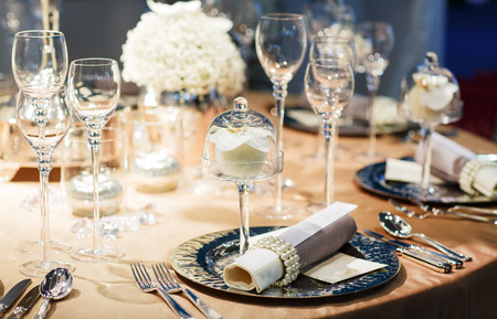 Elegant Table Settings wedding table setting images & stock pictures. royalty free