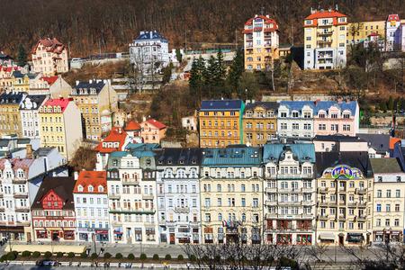 vary: City view of Carlsbad - Karlovy Vary, Czech republic