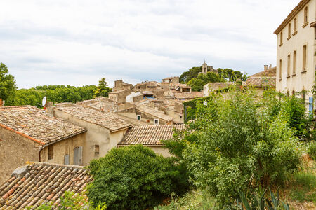 View on Provence village roof and landscape photo