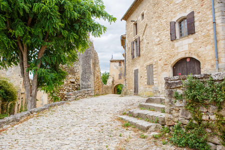 provence: View on provencal village roof and landscape, Provence, France. On sunny summer day. Stock Photo