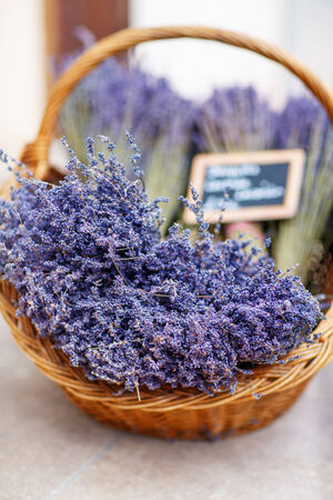 Shop in Provence decorated with lavender and vintage things photo
