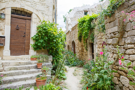 View on provencal village roof and landscape, Provence, France. On sunny summer day. 版權商用圖片