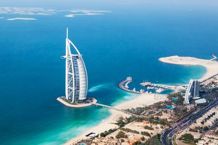 ドバイ、アラブ首長国連邦 - 1 月 20 日: ブルジュ アル アラブ ホテル 2011 年 1 月 20 日にドバイ、アラブ首長国連邦の。ブルジュ アル アラブは、ジュ 報道画像