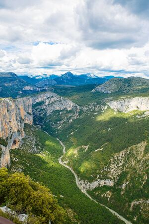 gorges: Gorges du Verdon,Provence in France, Europe. Beautiful view on canyons and mountains on summer day.