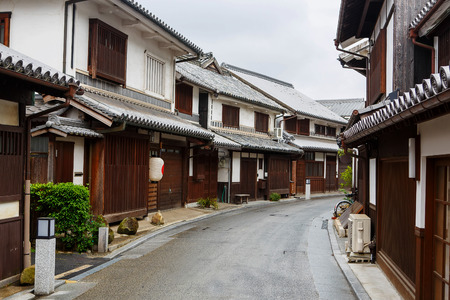 preservative: Kurashiki city. The preservative city of Okayama prefecture. Japan. Beautiful japanese old town with typical streets and architecture.