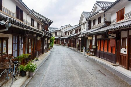 okayama: Kurashiki city. The preservative city of Okayama prefecture. Japan. Beautiful japanese old town with typical streets and architecture.