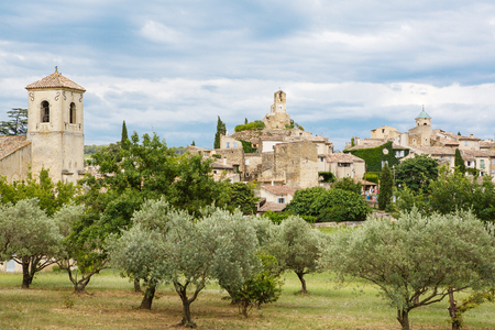Provence village Gordes scenic overlook, southern France