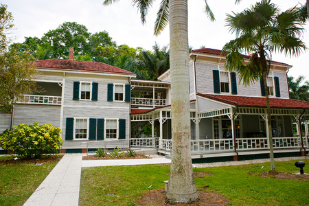 myers: FORT MYERS,FL-APRIL  15 2016: Fort Myers Florida, Thomas Edison and Henry Ford Winter Estates. Main Ford estate house museum. Florida, USA.