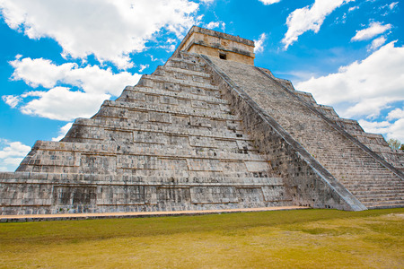 yucatan: Temple of Kukulkan, pyramid in Chichen Itza, Yucatan, Mexico